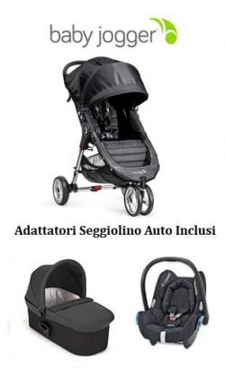 trio baby jogger city mini 3 - deluxe - cabriofix charcoal/denim online - Prezzo: 879.00 €